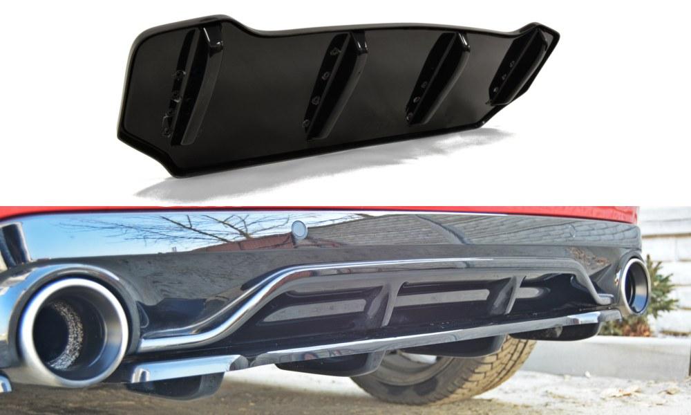Splitter Tylny Środkowy Peugeot 308 II GTI (Z dyfuzorem) - GRUBYGARAGE - Sklep Tuningowy